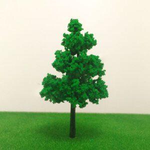 Cây mô hình thân nhựa có lá mẫu 3 6cm VM04-N07