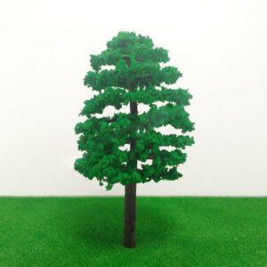 Cây mô hình thân nhựa có lá mẫu 5 9cm VM04-N11