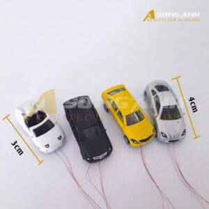 Xe hơi 3 - 4 cm có đèn bằng hợp kim tỉ lệ 1/100 HH01-XHAB01100