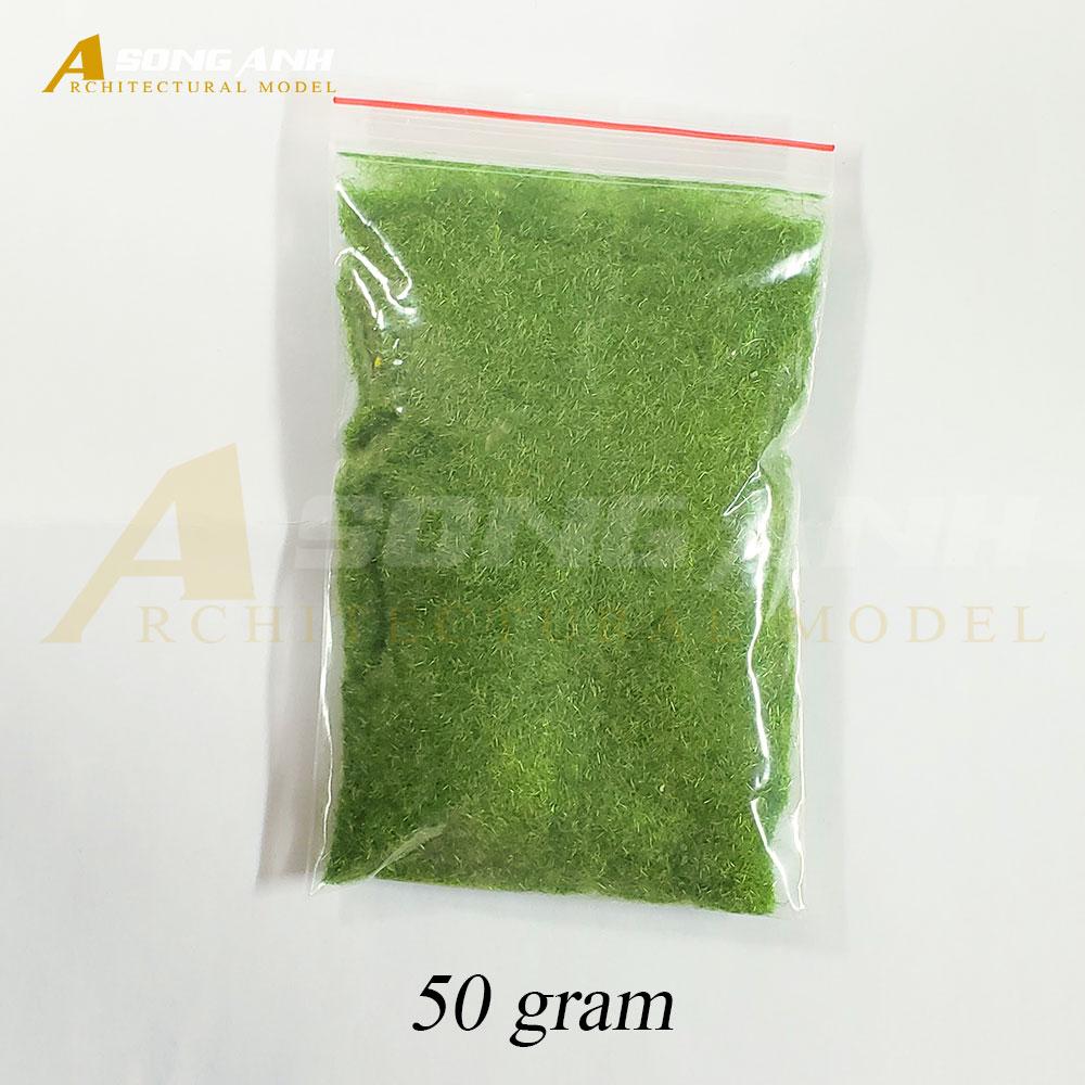 Bột cỏ loại sợi màu xanh nhạt vàng - Bịch 50 gram