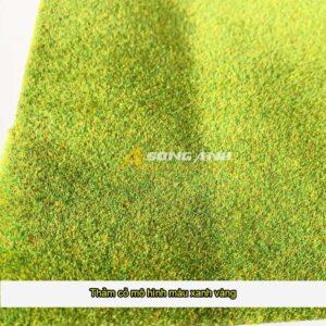 Thảm cỏ mô hình xanh vàng