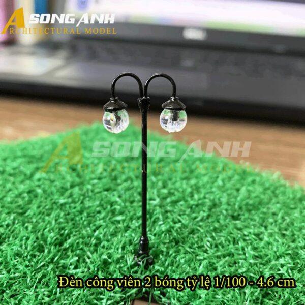 Đèn công viên mô hình 2 bóng loại 1 - 4.6 cm tỉ lệ 1/100 HH03-DCAB0201100