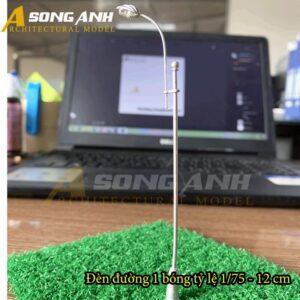 Đèn đường mô hình 1 bóng loại 2 - 12 cm tỉ lệ 1/75 HH03-DDAB010275