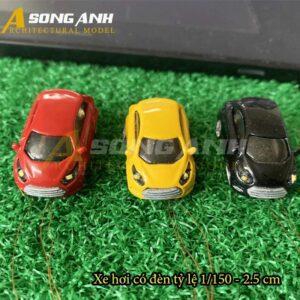 Xe hơi mô hình có đèn 2.5 cm tỉ lệ 1/150 HH01-XHAB01150