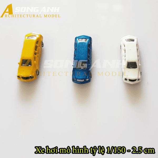 Xe hơi mô hình không đèn 2.5 cm tỉ lệ 1/150