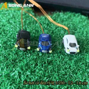 Xe hơi mô hình có đèn 1.2 - 1.6 cm tỉ lệ 1/250 HH01-XHAB01250