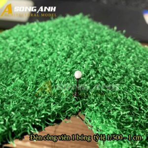 Đèn công viên mô hình 1 bóng loại 1 - 1 cm tỉ lệ 1/500 HH03-DCAB0101500