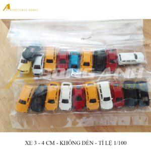 Xe hơi 3 - 4 cm không đèn bằng hợp kim tỉ lệ 1/100 HH01-XHAB02100