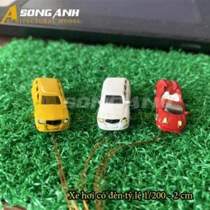 Xe hơi mô hình có đèn 2 cm tỉ lệ 1/200 HH01-XHAB01200