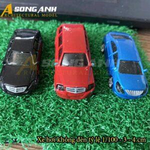 Xe hơi mô hình không đèn 3 - 4 cm tỉ lệ 1/100 HH01-XHAB02100