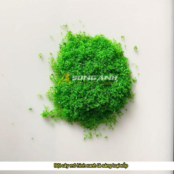 Bột cây mô hình xanh lá sáng loại xốp