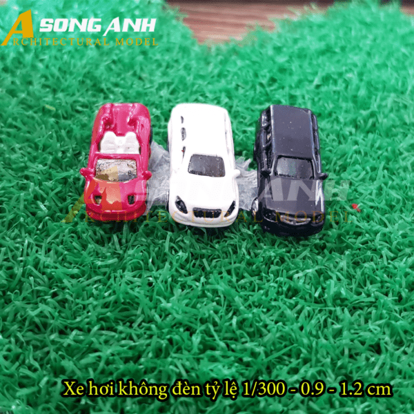 Xe hơi mô hình không đèn 0.9 - 1.2 cm tỉ lệ 1/300