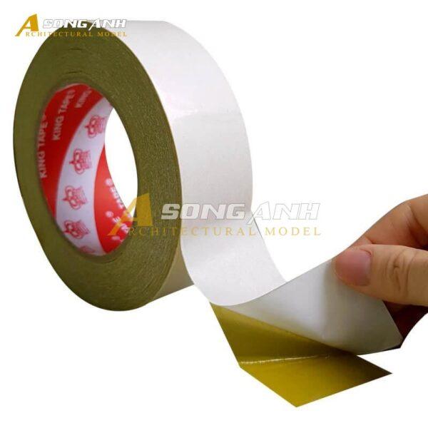 Băng Keo 2 mặt 2.5 cm lớp keo vàng đậm VP01-BKCP0125YEL