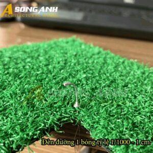 Đèn đường mô hình 1 bóng loại 1 - 1 cm tỉ lệ 1/600 HH03-DDAB0101600