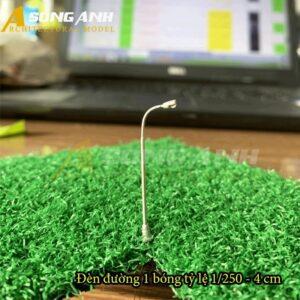 Đèn đường mô hình 1 bóng loại 1 - 4 cm tỉ lệ 1/250 HH03-DDAB0101250