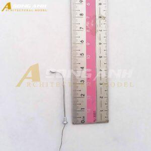 Đèn đường mô hình 1 bóng loại 1 - 4.5 cm tỉ lệ 1/200