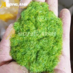 Bột cỏ mô hình màu xanh nhạt vàng loại sợi HH02-BCQSYELGRN01