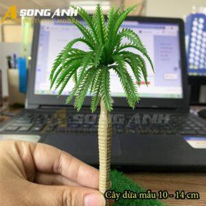 Cây dừa mô hình mẫu 10 - 14 cm HH04-CDQS1014