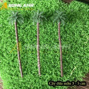 Cây dừa mô hình mẫu 3 - 5 cm thân nâu HH04-CDQS0305