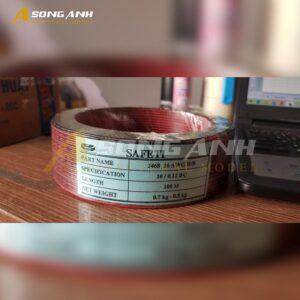 Dây điện đôi hàn mạch SAFETI đỏ đen lỗi 0,12 cm VD02-DDHD02SAFRBLK012