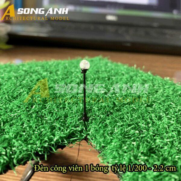 Đèn công viên mô hình 1 bóng loại 1 - 2,2 cm tỉ lệ 1/200 HH03-DCCH0101200