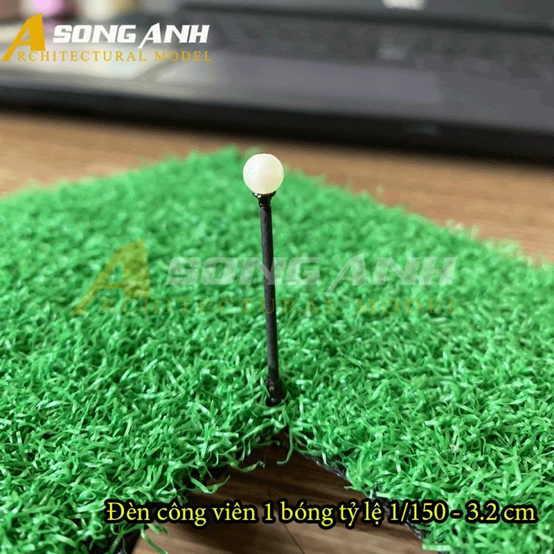 Đèn công viên mô hình 1 bóng loại 1 - 3,2 cm tỉ lệ 1/150 HH03-DCAB0101150