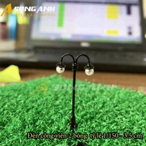 Đèn công viên mô hình 2 bóng loại 1 - 3.5 cm tỉ lệ 1/150 HH03-DCAB0201150