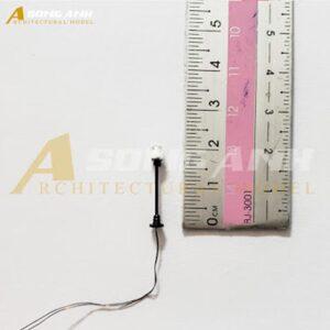 Đèn công viên mô hình 1 bóng loại 1 - 2 cm tỉ lệ 1/250 HH03-DCAB0101250