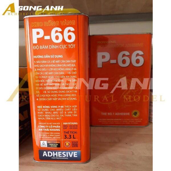Keo P66 hộp 3,3 lít XD01-KKNV0433