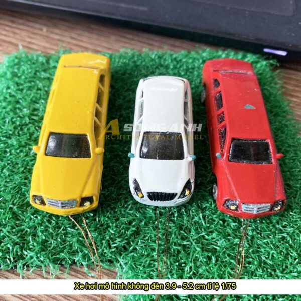 Xe hơi mô hình không đèn 3.9 - 5.2 cm tỉ lệ 1/75