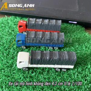 Xe tải mô hình không đèn 4.3 cm tỉ lệ 1/100 HH01-XTAB02100