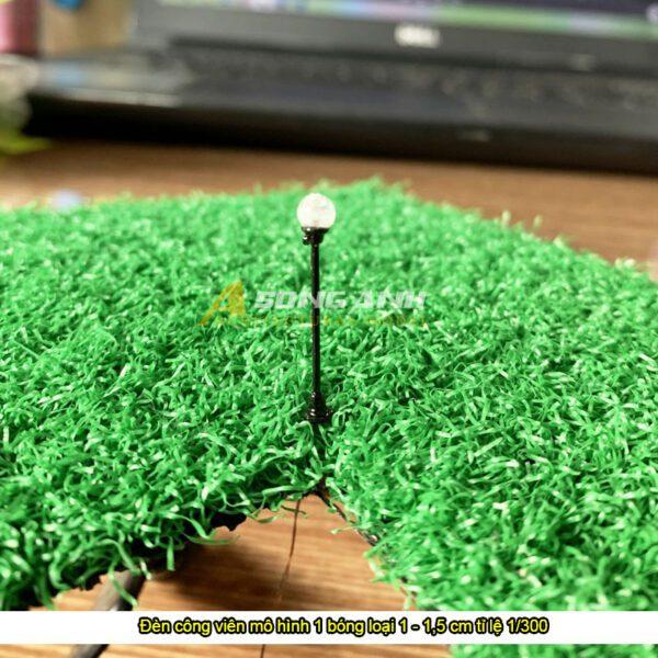 Đèn công viên mô hình 1 bóng loại 1 - 1,5 cm tỉ lệ 1/300
