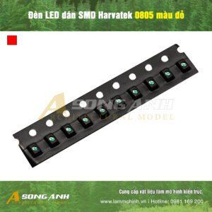 Đèn LED dán SMD Harvatek 0805 màu đỏ