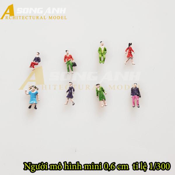Người mô hình mini 0,6 cm tỉ lệ 1/300