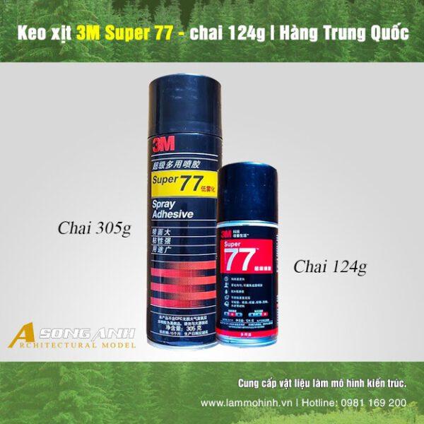Keo xịt 3M Super 77 - chai 124 gram