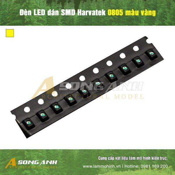 Đèn LED dán SMD Harvatek 0805 màu vàng